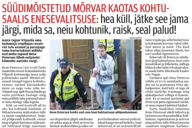 Viljandis mehe surnuks tulistanu karistust ei muudetud: 14 aastaks vangi