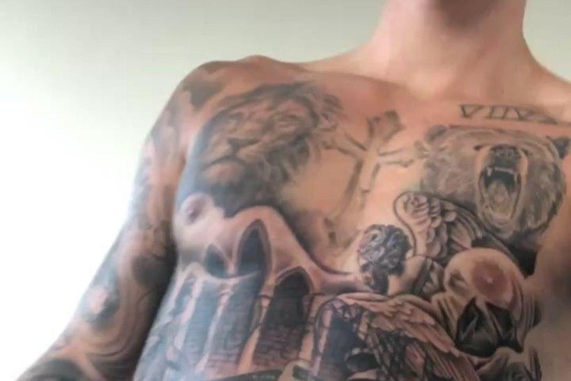 Justin Bieberi uut tätoveeringut tikiti tema ihule 26 tundi