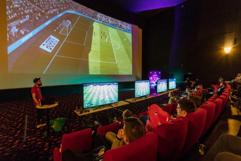 VIRTUAALREAALSUS: mängudeööl sai mängida jalgpalli kinoekraanil ja lüüa tantsu!