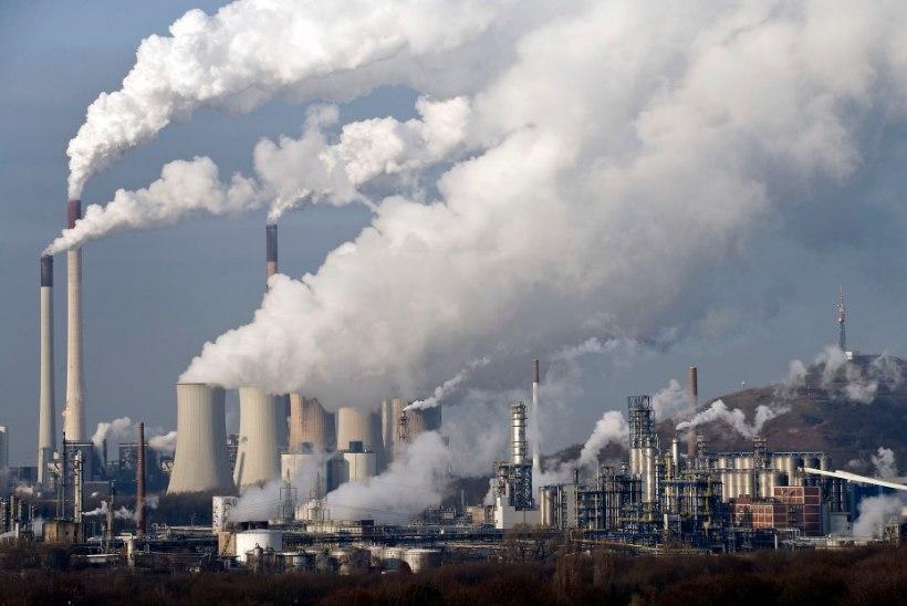 2016. aastal tõusis kasvuhoonegaaside hulk rekordtasemele