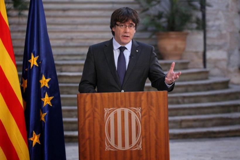VANGIKONG VALMIS? Hispaania süüdistab Kataloonia juhtkonda mässus, president lahkus riigist