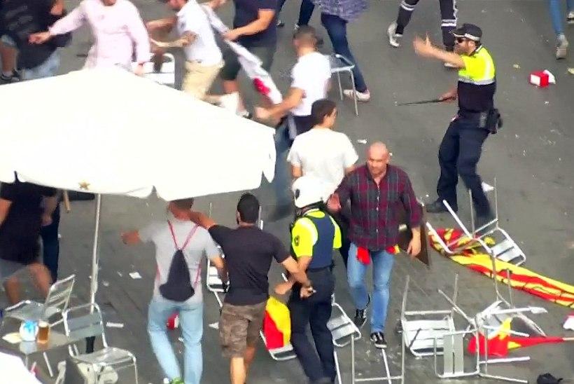 RAHUTUSTE VIDEO | Hispaania ülemkohus tühistas Kataloonia sõltumatuse, linnas kokkupõrked rahvuslaste ja vasakäärmuslaste vahel