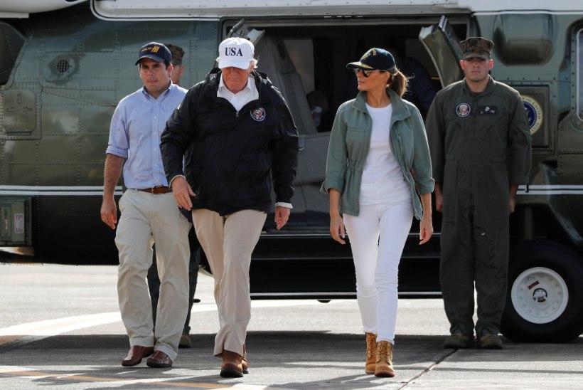 FOTOD | Trump võrdles Puerto Ricol Maria ohvreid Katrina käes kannatanutega
