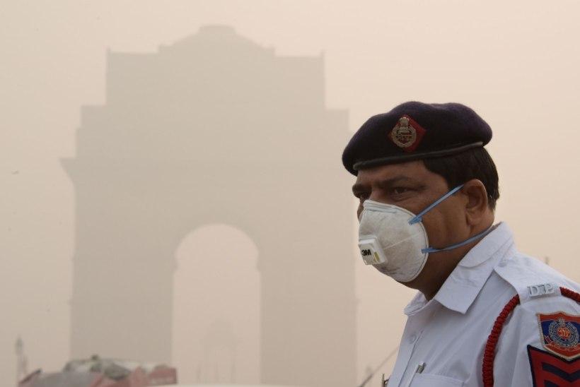 FOTOD | DELHI: linn, mille õhu hingamine on kui päevas 44 sigareti suitsetamine