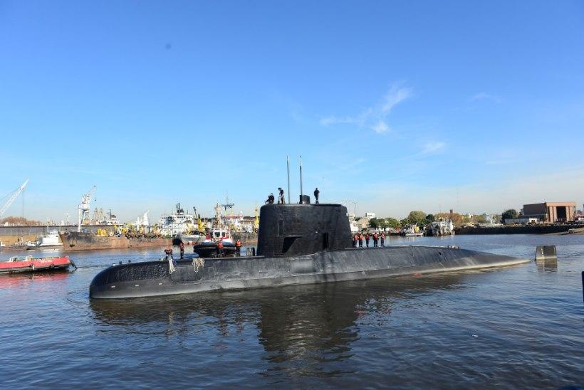 Argentiina lähistel jäi kadunuks allveelaev