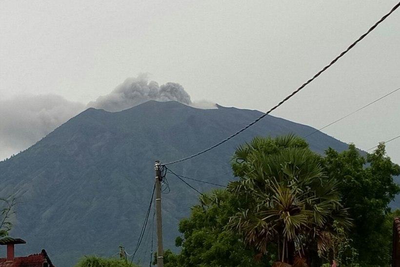 Balil hakkas viimaks purskama Agungi vulkaan