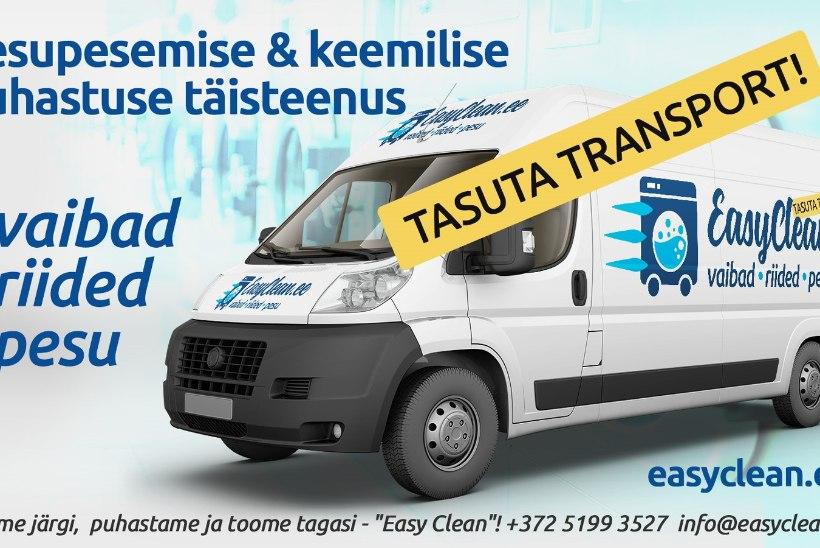 Uus mugavusteenus Eestis! Keemiline puhastus ja pesupesemine tasuta tarnega ukselt-ukseni
