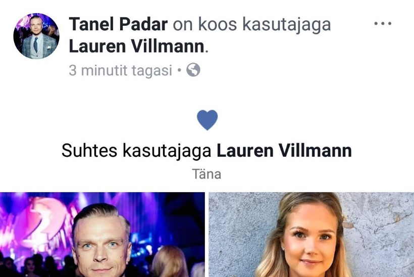 ASI AMETLIK! Tanel Padari uus kallim on modell Lauren Villmann