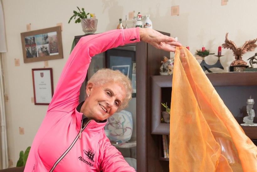 73aastane võimlemistreener Sirje: raskustest saab üle, kui lähed trenni ja kuulad muusikat