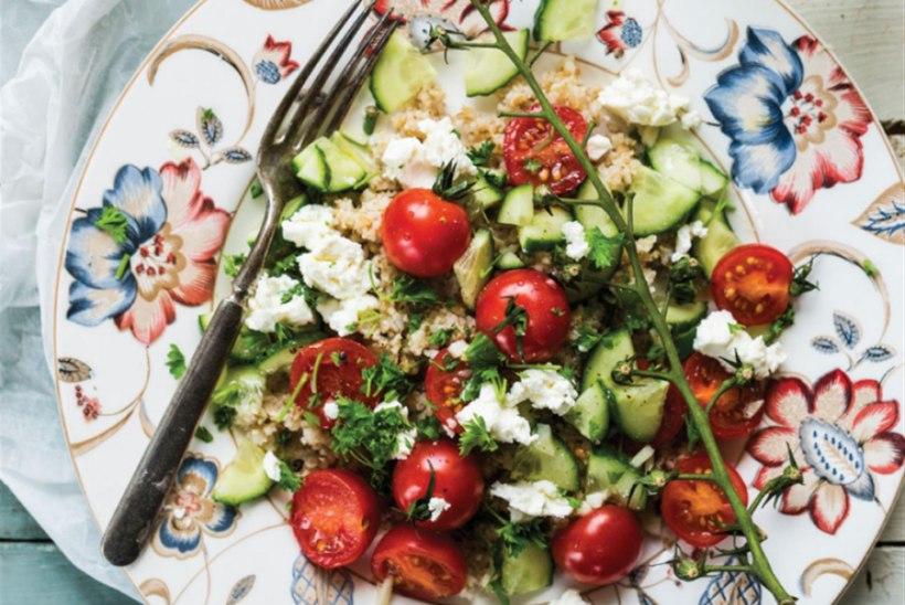 Värske salat feta ja bulguriga