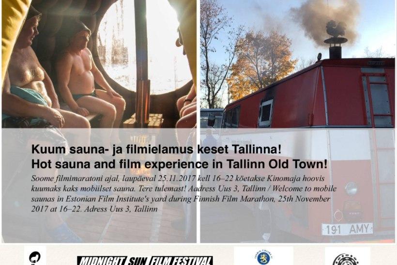 VIDEO JA GALERII | KUMMARDUS SOOMELE: kinomajas startis non-stop filmimaraton koos sauna, tantsu ja karaokega