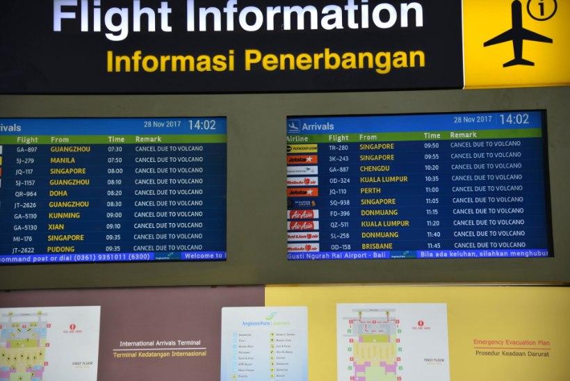 Bali lennujaam jääb endiselt suletuks