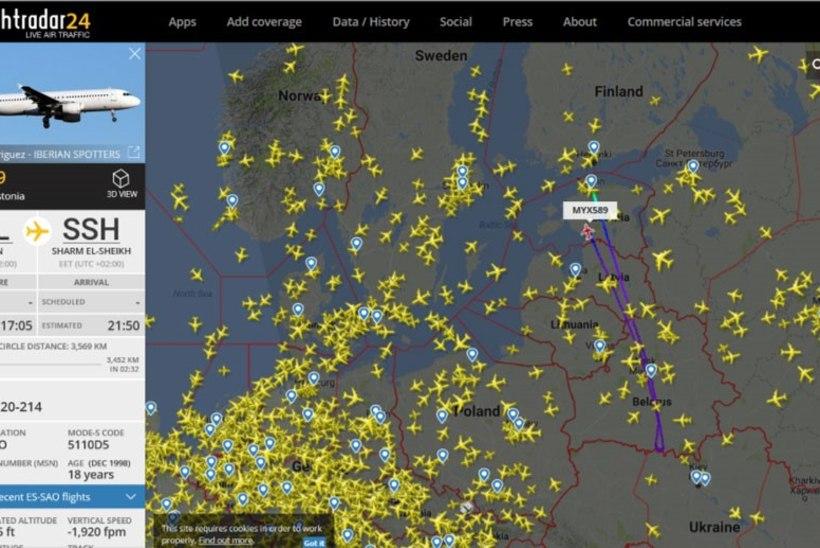 Tallinnast Egiptusse suundunud lennuk pöördus tagasi Tallinna