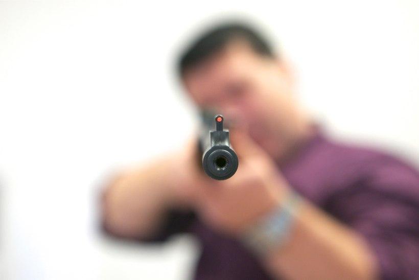 Politsei pidas püssi ja noaga lapsi ähvardanud mehe kinni