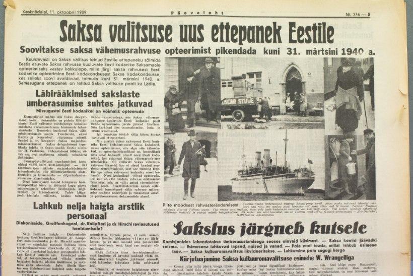 SADA SÜNDMUST, MIS MÕJUTASID EESTIT   83. koht: Umsiedlung – baltisakslaste lahkumine
