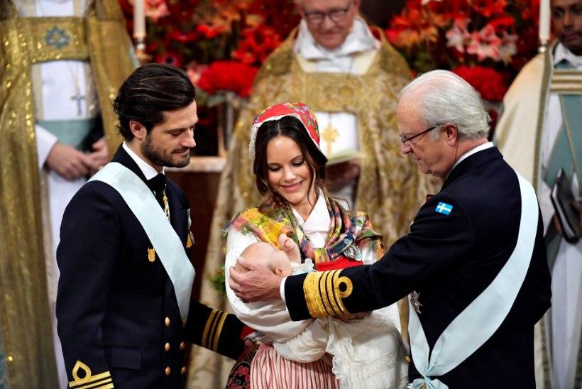Täna ristiti Stockholmis Rootsi kuningliku pere noorim liige prints Gabriel