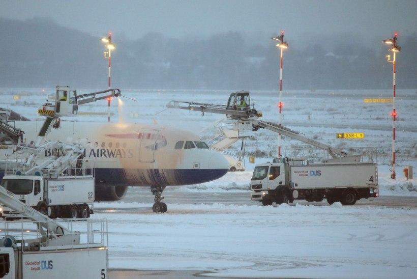 LUMEKAOS: Euroopa lennujaamad on hädas lumega