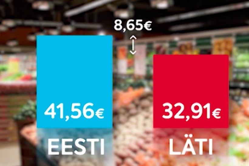TV3 VIDEO | Ostukontroll Lätis: kas lõunanaabrite toidukorv tuleb odavam?