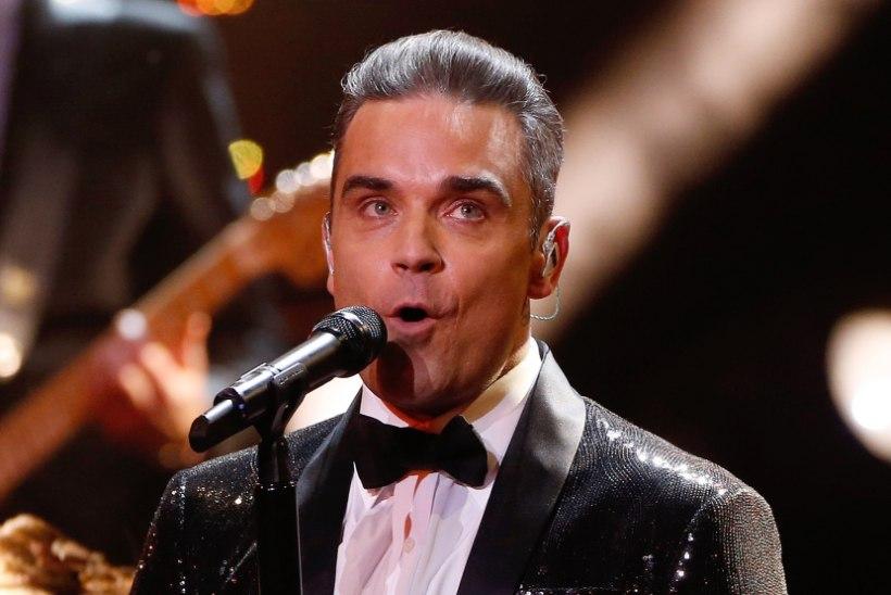 Robbie Williams kiskus jõulude puhul rõivad seljast!