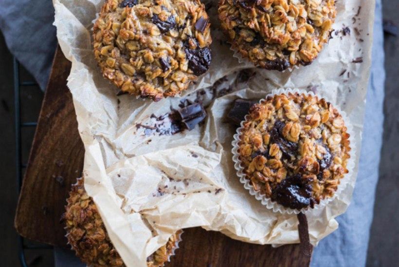 Banaani ja tumeda šokolaadiga muffinid