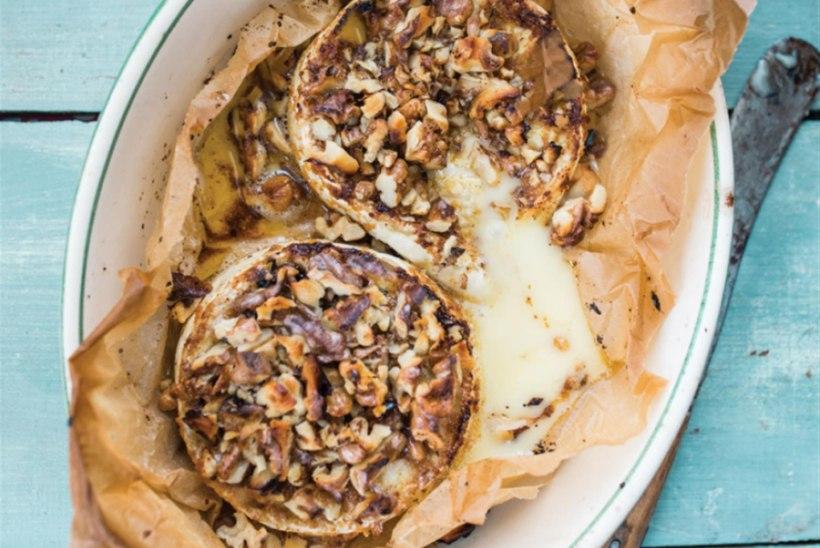 Grillitud Brie juust Kreeka pähklitega