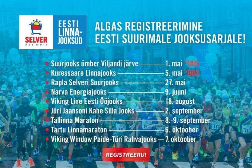 Algasregistreerimine Selver Eesti Linnajooksude uuele hooajale!