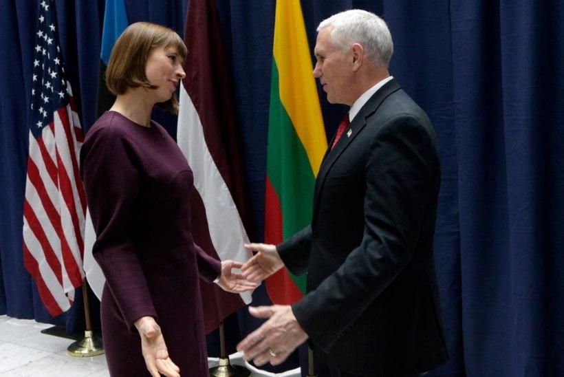 President Kaljulaid kohtus USA asepresident Mike Pence'iga