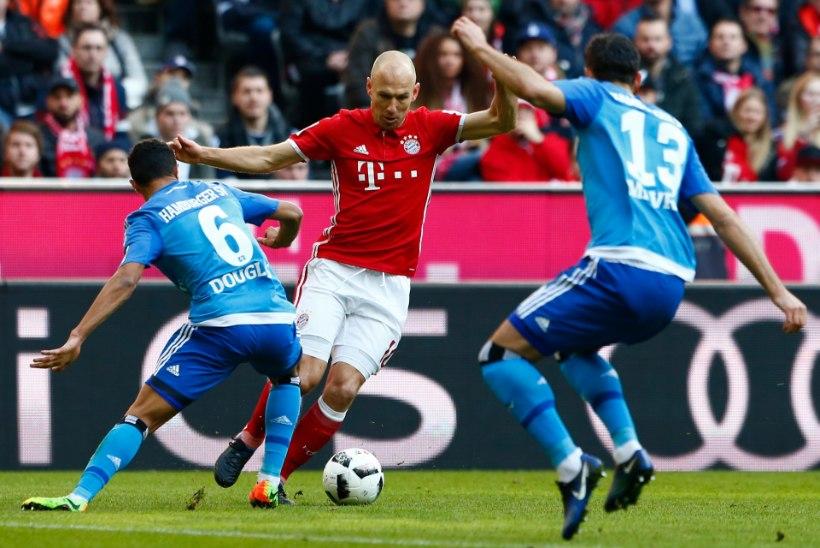 MIKS KÜLL? Bayern on Münchenis Hamburgi suurim õudusunenägu, Arjen Robben jõudis vägeva tähiseni