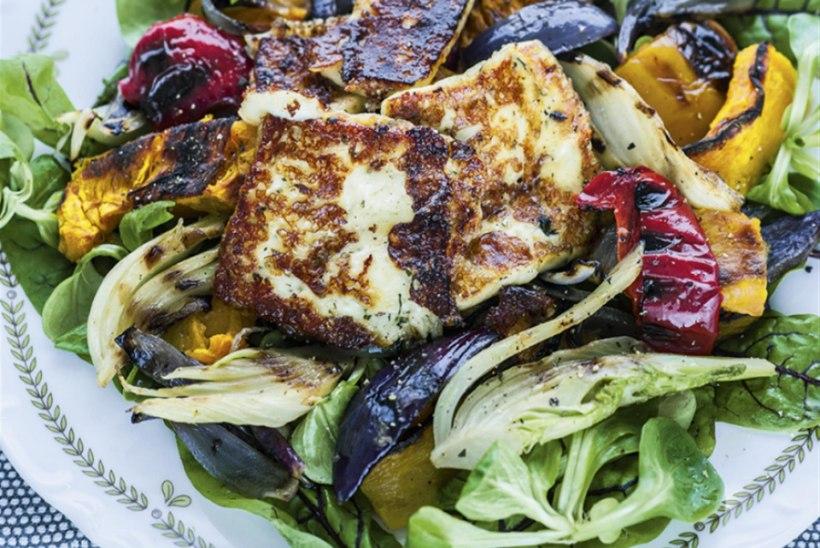 Röstköögiviljad kuskussi ja grillitud juustuga