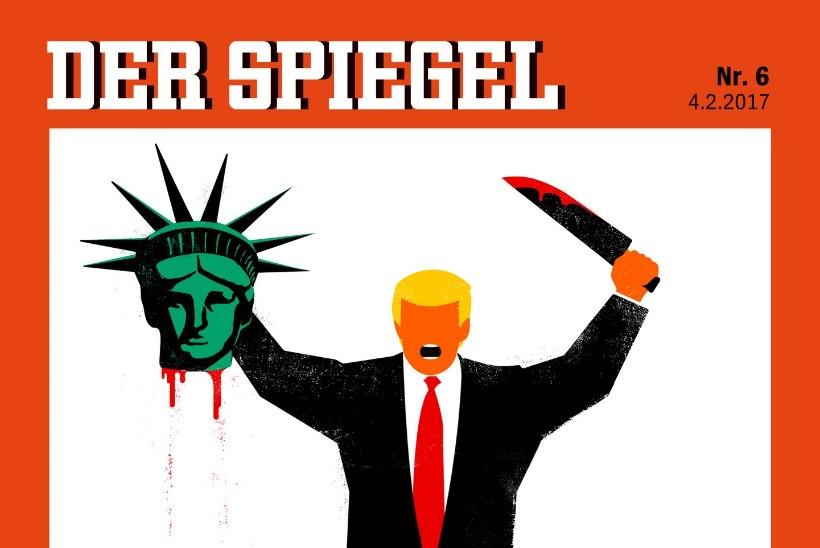 Saksa ajakiri kujutab Trumpi verise timukana