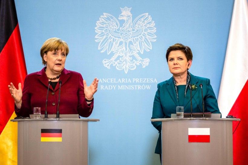 Merkel Poolas: Venemaa sanktsioone tühistada ei tohi
