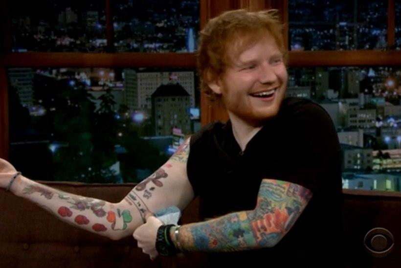 Kõva kutt: Ed Sheeran jäi tätoveerimise ajal magama