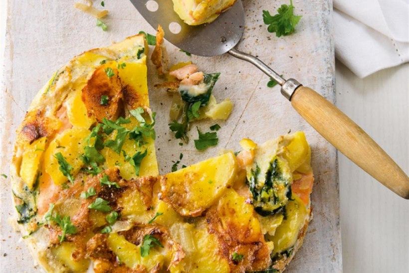 Lõhe-kartulitortilja