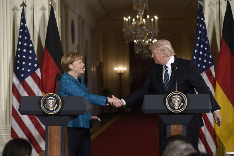 Trump keeldus Merkeli kätt surumast