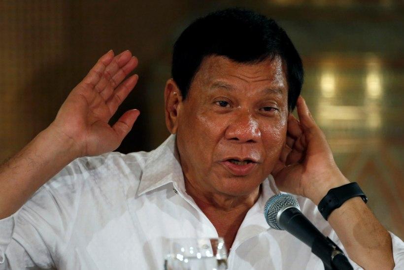 Filipiinide president rahvusvahelist kohut ei karda