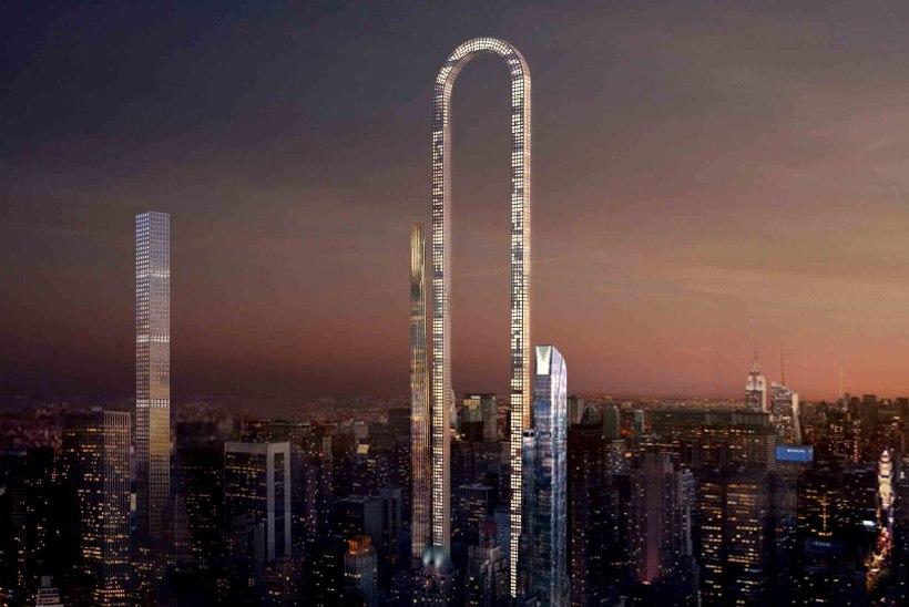 Kas New Yorki kerkib pilvelõhkuja, mis on nagu hiiglaslik tagurpidi U?