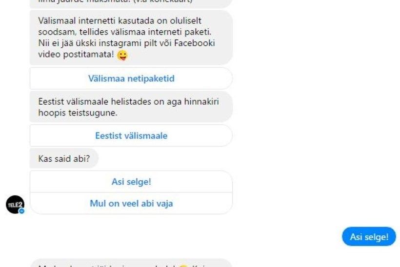 VAATA, KUIDAS TÖÖTAB! Mobiilifirma pani tööle klienditeenindusroboti
