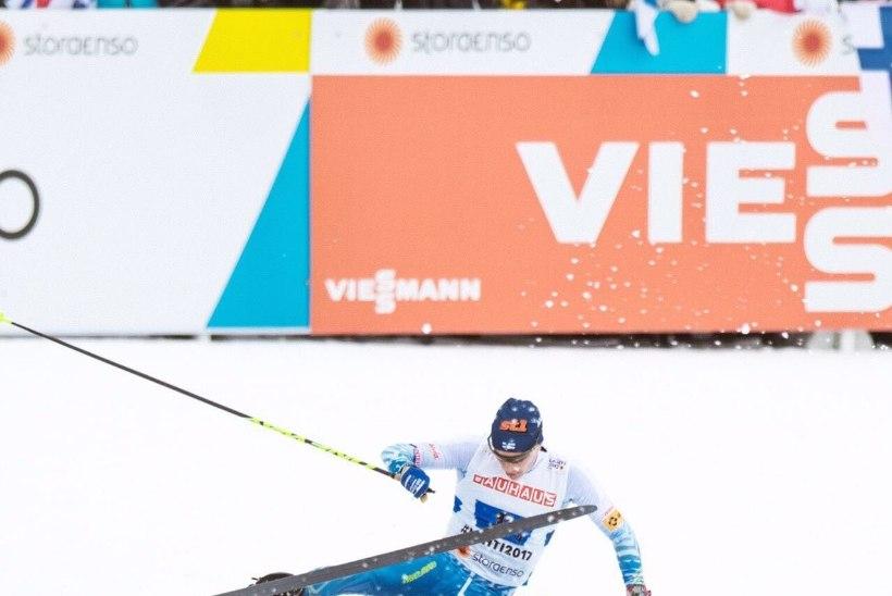 VIDEO | NEETUD! Vaata, kuidas Soome suusamees taas koduraja viimases kurvis kukkus ja MM-medali kaotas