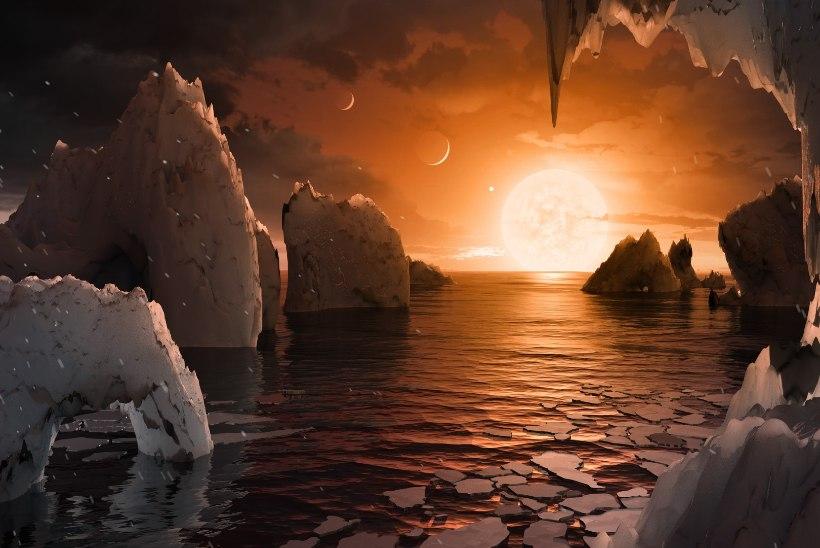 Harukordne leid: ühe tähe ümber tiirleb seitse Maa-sarnast planeeti