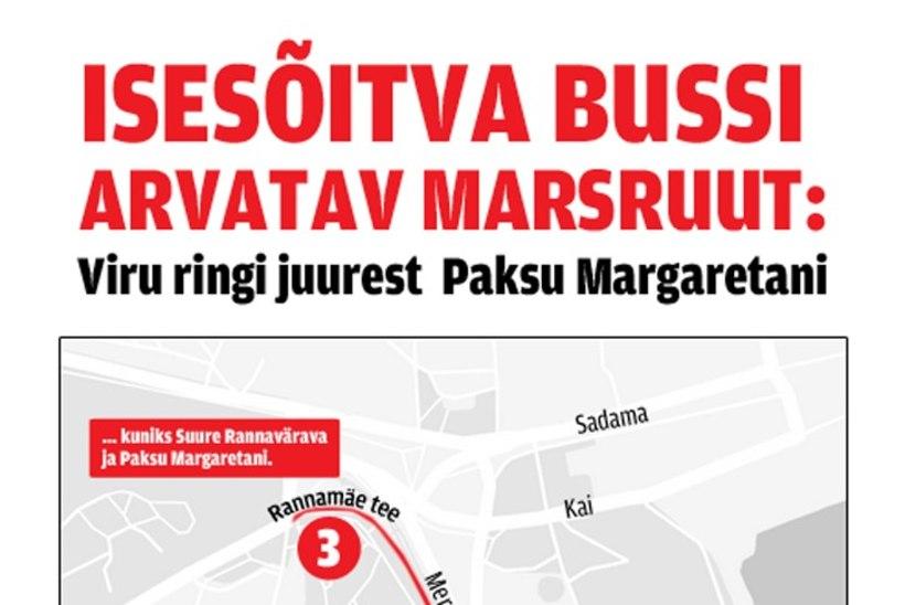Suvel sõidavad Tallinnas juhita bussid