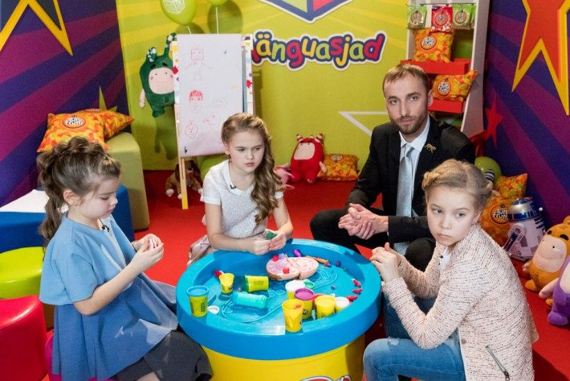 """TV3 telemängus """"Suure tähe väike täht"""" täna Evelin Võigemast, Luisa Värk ja Koit Toome lastega"""
