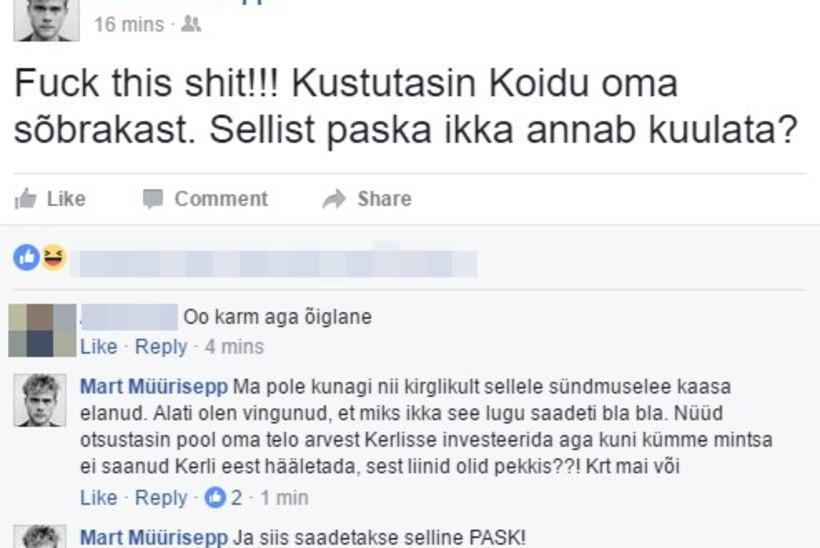 """Marus Mart Müürisepp Koidu ja Laura eurolaulust: """"Sellist p*ska ikka annab kuulata?"""""""