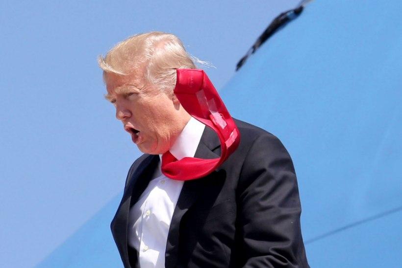 FOTOD   Trump kasutab lipsunõela asemel kõige tavalisemat teipi