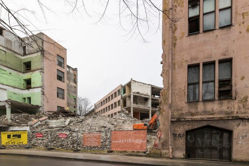 Kunstiakadeemia on ehituseelses lammutusfaasis