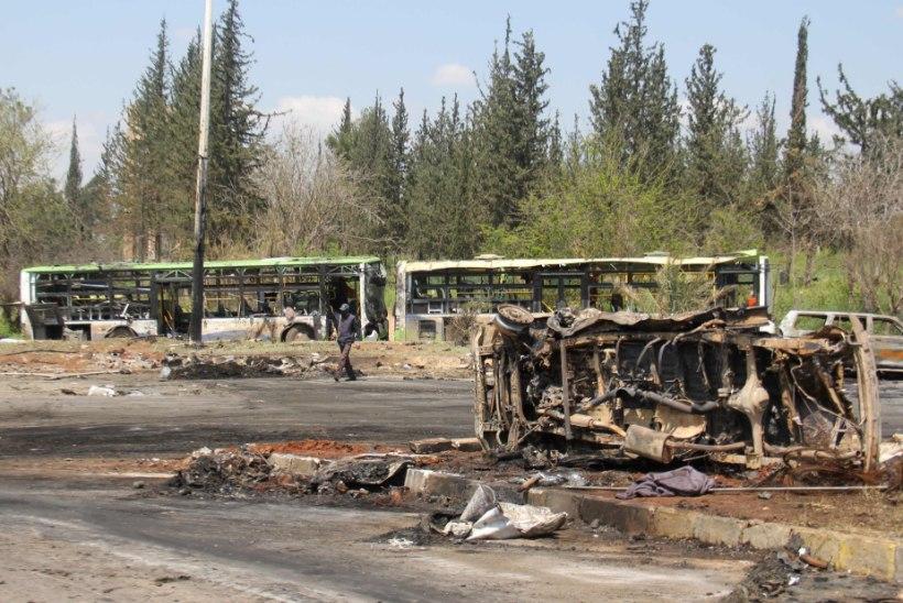 Autopomm tappis Süürias üle saja inimese, neist enamus evakueeritavad