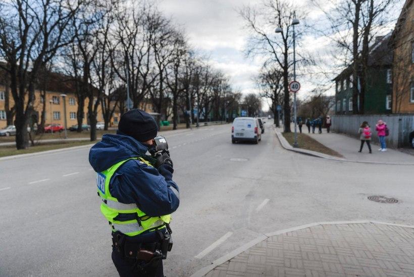 Politseinikud mõõdavad kiirust liiklejate endi soovitud paikades