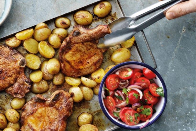 Ahjus grillitud seakarbonaad röstitud kartulitega
