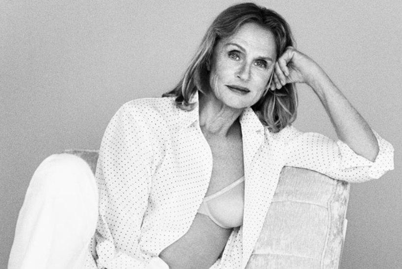 73aastane supermodell reklaamib Calvin Kleini rinnahoidjat