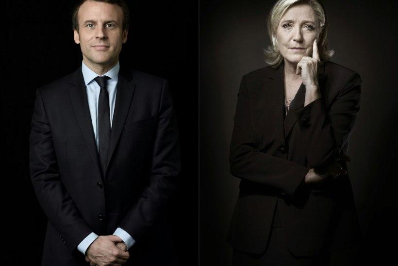 PRANTSUSMAA PRESIDENDIVALIMISED: teises voorus Macron ja Le Pen