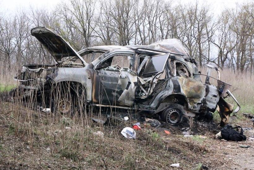 OSCE kontrollrühm sattus miinile